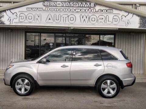 2012 Acura MDX for sale at Don Auto World in Houston TX