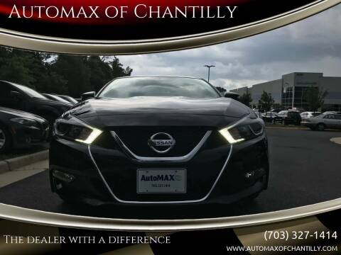 2018 Nissan Maxima for sale at Automax of Chantilly in Chantilly VA