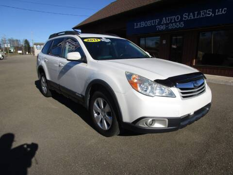2011 Subaru Outback for sale at LeBoeuf Auto Sales in Waterford PA