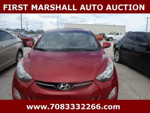 2012 Hyundai Elantra for sale at First Marshall Auto Auction in Harvey IL