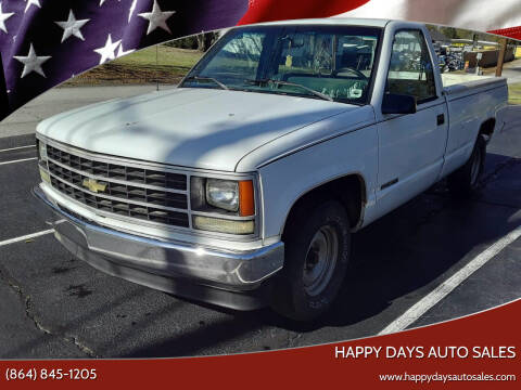 1990 GMC Sierra 1500 for sale at Happy Days Auto Sales in Piedmont SC