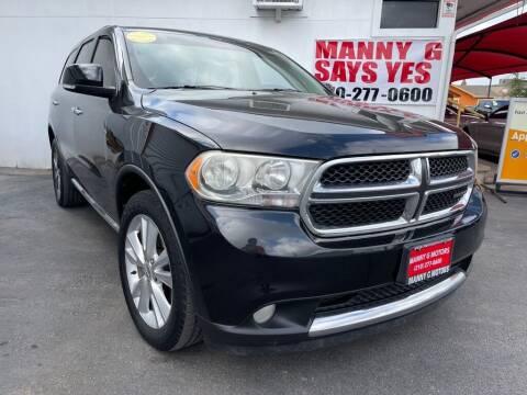 2013 Dodge Durango for sale at Manny G Motors in San Antonio TX