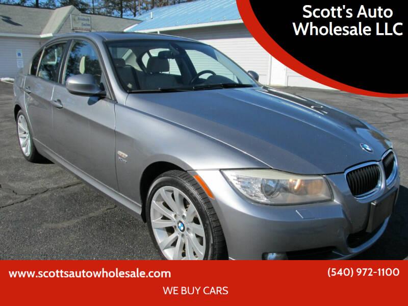 2011 BMW 3 Series for sale at Scott's Auto Wholesale LLC in Locust Grove VA