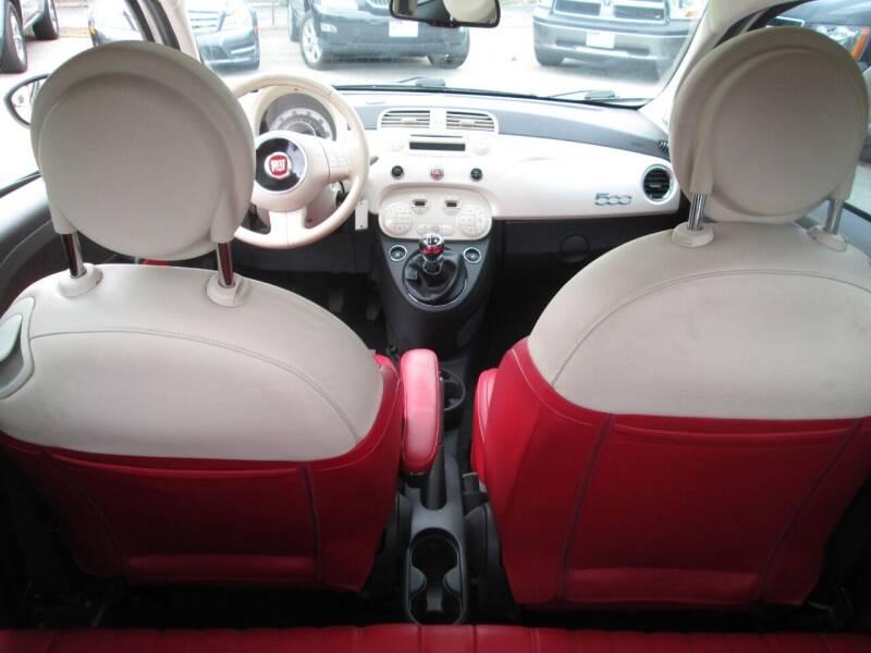 2012 FIAT 500 Lounge 2dr Hatchback - Lowell MA