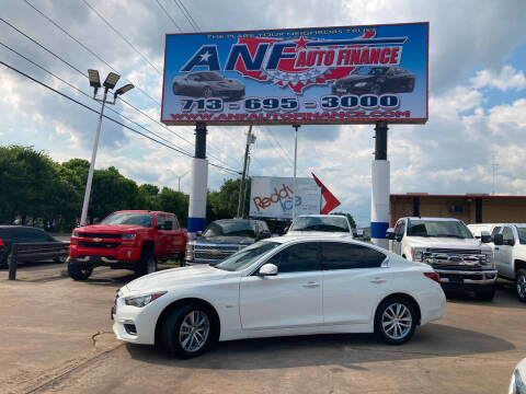 2018 Infiniti Q50 for sale at ANF AUTO FINANCE in Houston TX