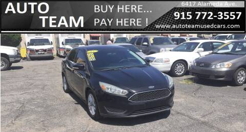 2015 Ford Focus for sale at AUTO TEAM in El Paso TX
