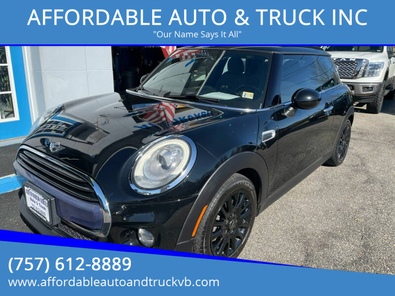 2016 MINI Hardtop 2 Door for sale at AFFORDABLE AUTO & TRUCK INC in Virginia Beach VA