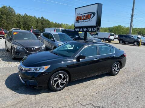 2016 Honda Accord for sale at Billy Ballew Motorsports in Dawsonville GA