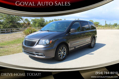 2016 Chrysler Town and Country for sale at Goval Auto Sales in Pompano Beach FL