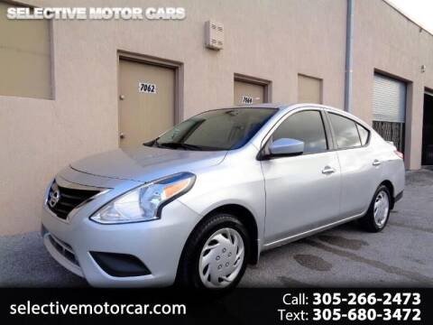2016 Nissan Versa for sale at Selective Motor Cars in Miami FL