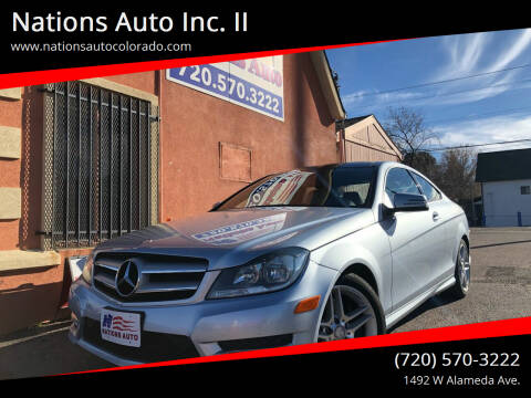 2013 Mercedes-Benz C-Class for sale at Nations Auto Inc. II in Denver CO