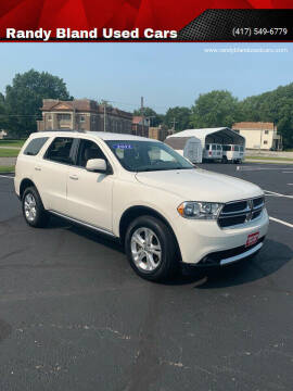 2012 Dodge Durango for sale at Randy Bland Used Cars in Nevada MO