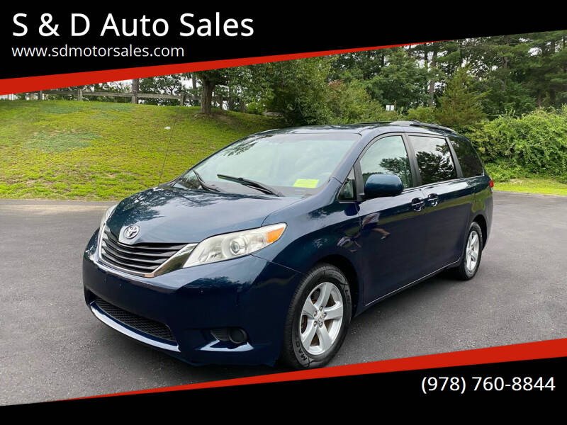 2012 Toyota Sienna for sale at S & D Auto Sales in Maynard MA