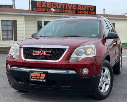 2010 GMC Acadia for sale at Executive Auto in Winchester VA