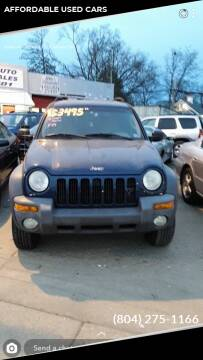 2002 Jeep Liberty for sale at AFFORDABLE USED CARS in Richmond VA