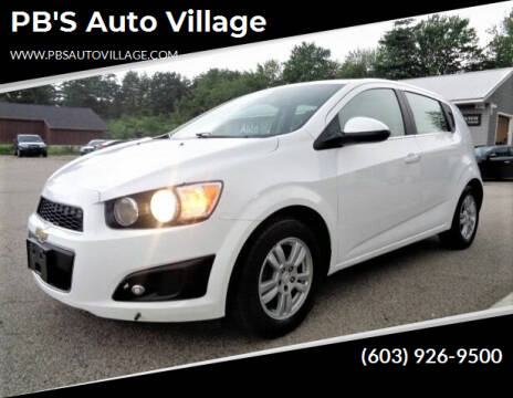 2016 Chevrolet Sonic for sale at PB'S Auto Village in Hampton Falls NH