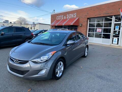 2013 Hyundai Elantra for sale at Cote & Sons Automotive Ctr in Lawrence MA