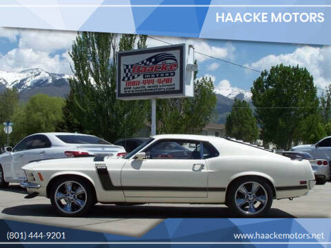 1970 Ford Mustang Boss 302 for sale at Haacke Motors in Layton UT