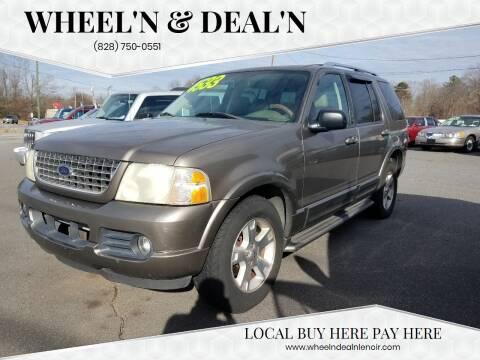 2003 Ford Explorer for sale at Wheel'n & Deal'n in Lenoir NC