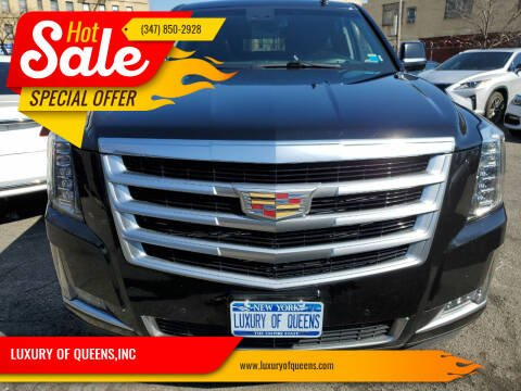 2016 Cadillac Escalade ESV for sale at LUXURY OF QUEENS,INC in Long Island City NY