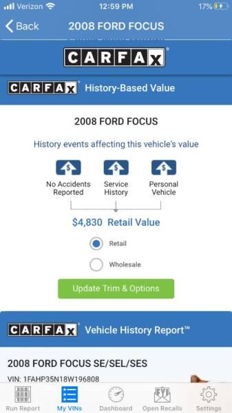 2008 Ford Focus SES 4dr Sedan - Portland OR