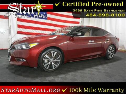 2017 Nissan Maxima for sale at STAR AUTO MALL 512 in Bethlehem PA
