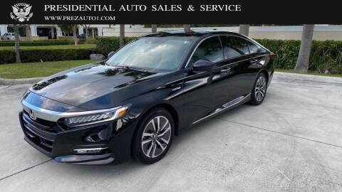 2018 Honda Accord Hybrid for sale at Presidential Auto  Sales & Service in Delray Beach FL