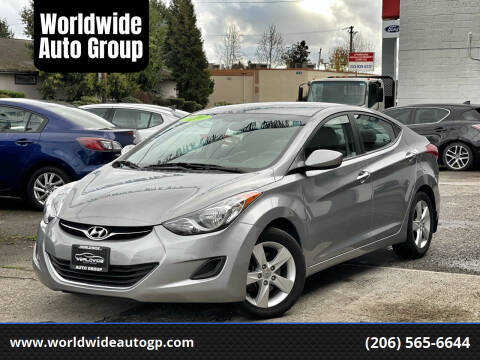 2013 Hyundai Elantra for sale at Worldwide Auto Group in Auburn WA