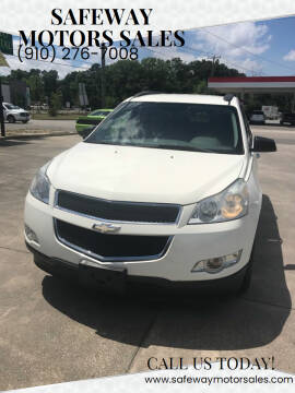 2012 Chevrolet Traverse for sale at Safeway Motors Sales in Laurinburg NC