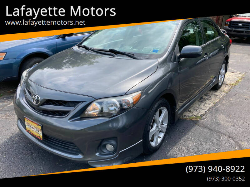2012 Toyota Corolla for sale at Lafayette Motors in Lafayette NJ