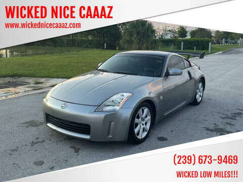 2003 Nissan 350Z for sale at WICKED NICE CAAAZ in Cape Coral FL