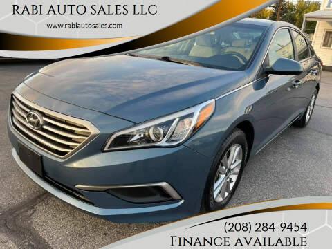 2017 Hyundai Sonata for sale at RABI AUTO SALES LLC in Garden City ID