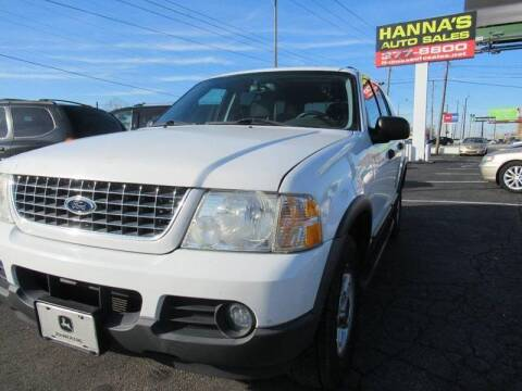 2003 Ford Explorer for sale at Hanna's Auto Sales in Indianapolis IN