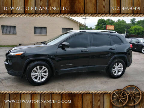 2015 Jeep Cherokee for sale at DFW AUTO FINANCING LLC in Dallas TX