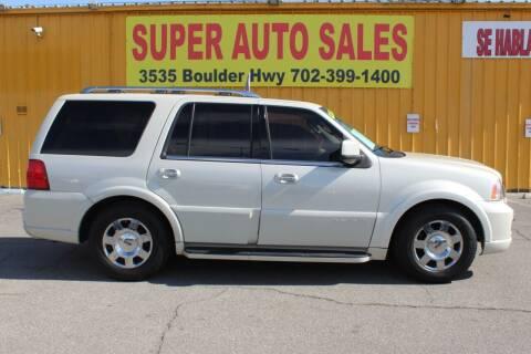 2006 Lincoln Navigator for sale at Super Auto Sales in Las Vegas NV