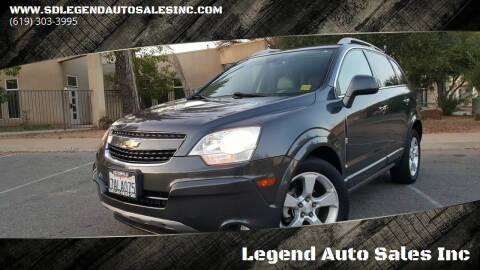 2013 Chevrolet Captiva Sport for sale at Legend Auto Sales Inc in Lemon Grove CA