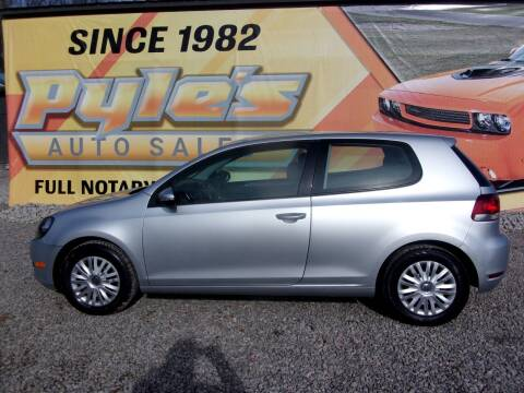 2011 Volkswagen Golf for sale at Pyles Auto Sales in Kittanning PA