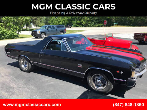 1972 Chevrolet El Camino for sale at MGM CLASSIC CARS-New Arrivals in Addison IL