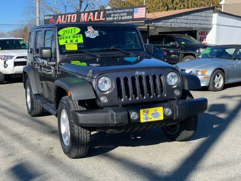 2017 Jeep Wrangler Unlimited for sale at Milford Auto Mall in Milford MA