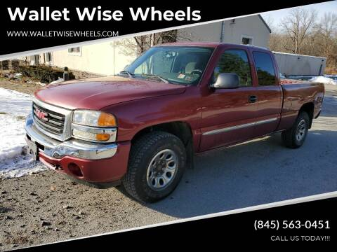 2005 GMC Sierra 1500 for sale at Wallet Wise Wheels in Montgomery NY