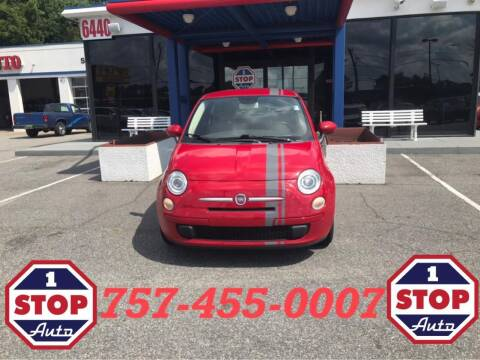 2013 FIAT 500 for sale at 1 Stop Auto in Norfolk VA