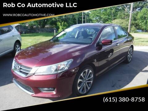 2015 Honda Accord for sale at Rob Co Automotive LLC in Springfield TN