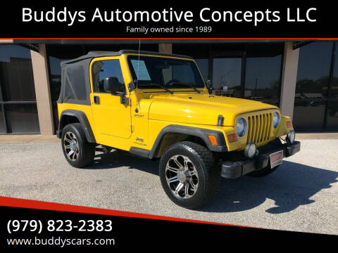 2004 Jeep Wrangler for sale at Buddys Automotive Concepts LLC in Bryan TX