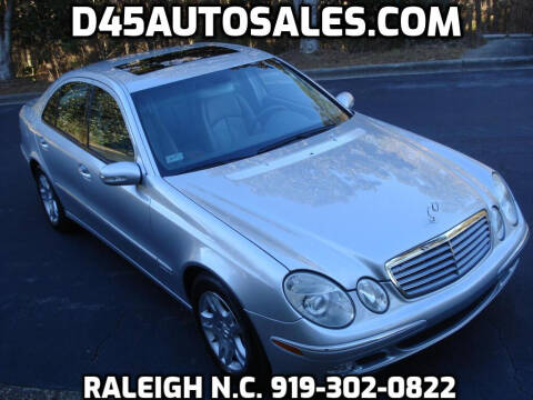 2006 Mercedes-Benz E-Class for sale at D45 Auto Brokers in Raleigh NC