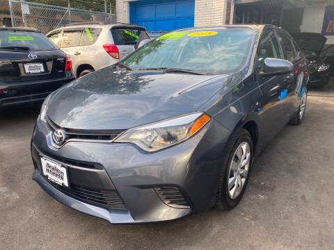 2015 Toyota Corolla for sale at DEALS ON WHEELS in Newark NJ