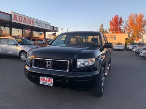 2008 Honda Ridgeline for sale at Adams Auto Sales in Sacramento CA