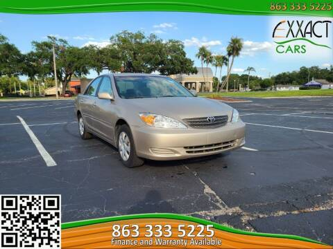 2003 Toyota Camry for sale at Exxact Cars in Lakeland FL