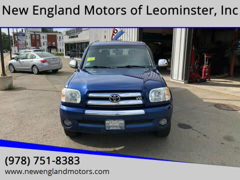 2006 Toyota Tundra for sale at New England Motors of Leominster, Inc in Leominster MA