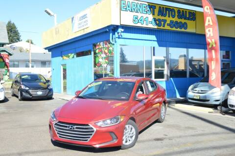 2017 Hyundai Elantra for sale at Earnest Auto Sales in Roseburg OR