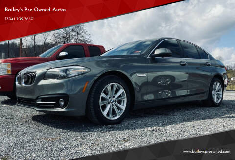 2015 BMW 5 Series for sale at Bailey's Pre-Owned Autos in Anmoore WV